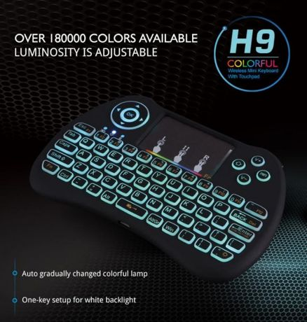 Беспроводная Мини клавиатура H9 с подсветкой RGB USB передатчик