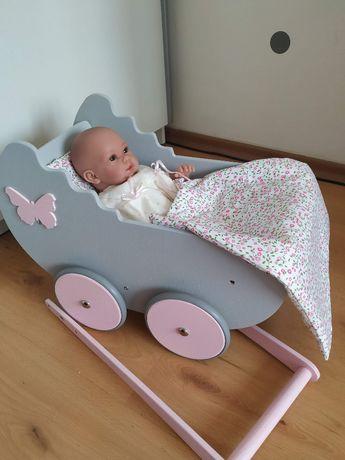 Drewniany wózek dla lalek Retro firmy Bebis.pl super prezent na roczek