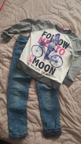 Komplet ubrań 122-128 jeansy