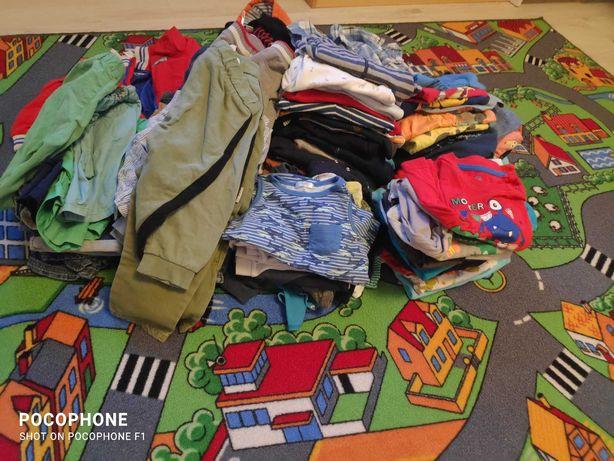 paka paczka zestaw ciuszków ubrań dla chłopca chłopiec 86