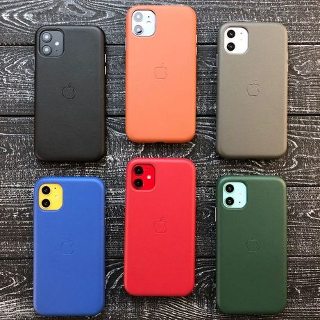 Full Leather Case IPhone Кожаный чехол 7 8 Plus X XR Xs Max 11 Pro 12