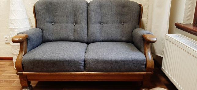 Sofa i fotel drewniane