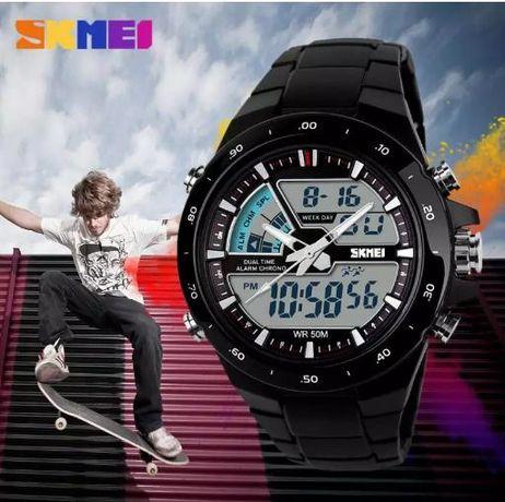Мужские спортивные часы SKMEI армия водонепроницаемые G-Shock