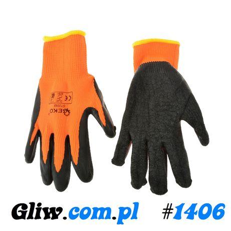 #1406 Rękawice robocze ocieplane zimowe ORANGE r.10
