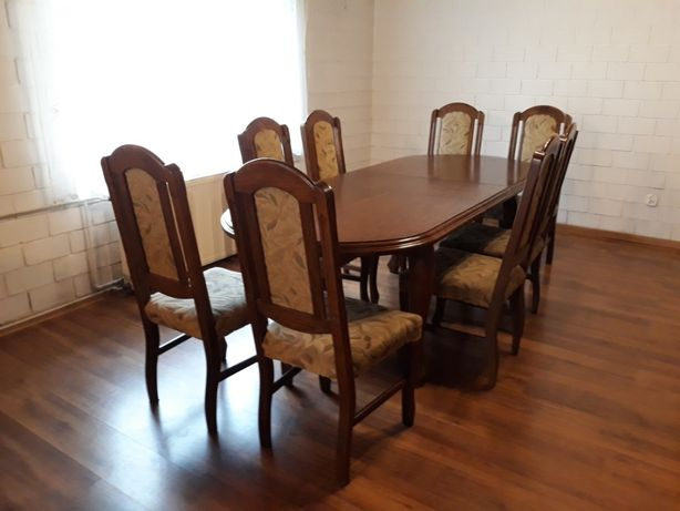 Dębowy stół i krzesła   Stół rodzinny   Drewno dębowe 