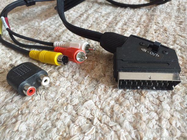 Cabo Scart com ligação audio e S video Port