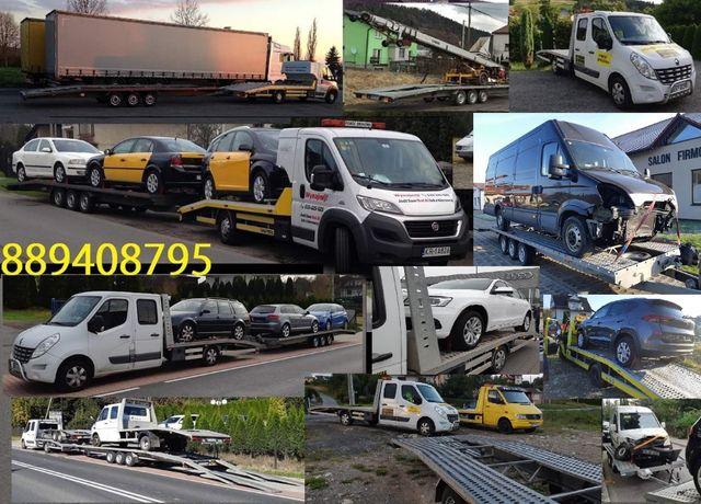 Holowanie z OC sprawcy laweta autolaweta pomoc drogowa bus zlomowanie