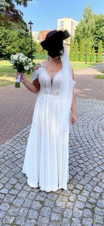 Suknia ślubna hiszpanka biała