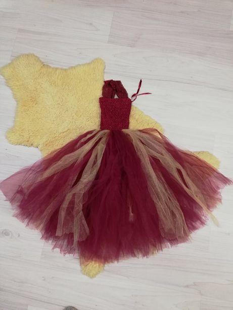 Пышное платье на 4-6 лет