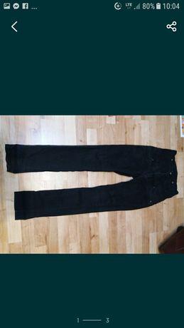 (35) spodnie rurki podwójny pas wysoki