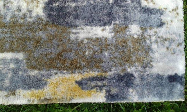 Dywan 150x80 nowy dywanik szary musztarda Dębica dywan chodnik dywanik