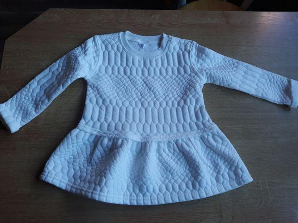 Nowa sukienka tunika biała ecru 92 cm