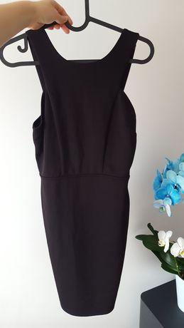 Czarna sukienka obcisla mini xs odkryte plecy wycięcia
