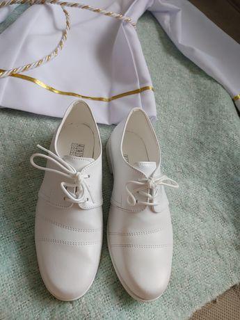 Buty komunijne białe chłopięce  31 32 - 21 cm