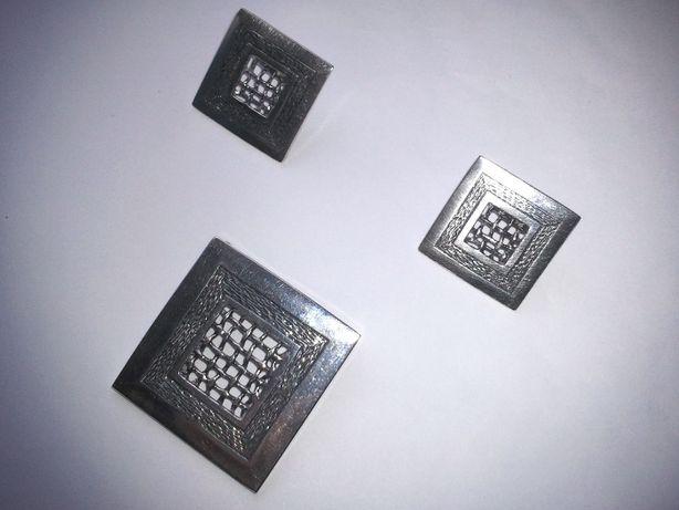 Srebrny komplet WISIOREK + KOLCZYKI srebro 925 17g