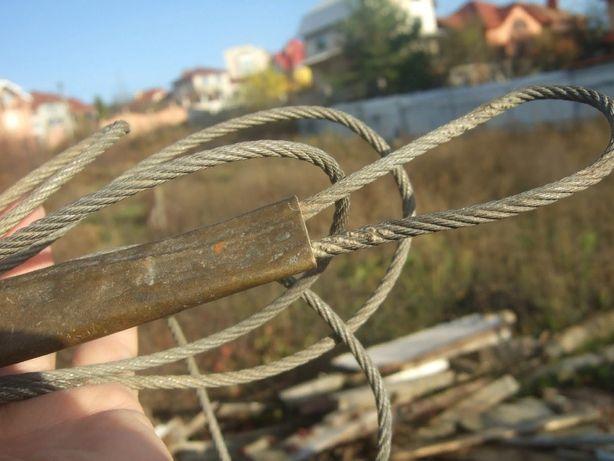 Стальной трос 4 мм, длина 3 метра