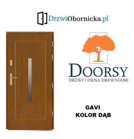 Drzwi DOORSY GAVI drewniane zewnętrzne wejściowe 100mm grubości