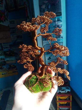 Продам міні дерева бонсай із проволоки