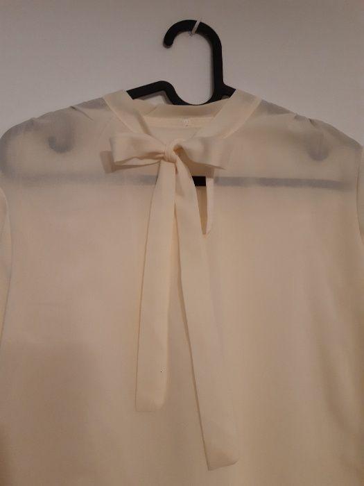 Biała elegancka koszula wiązana pod szyją Wrocław - image 1
