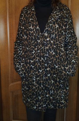 Пальто на Осень/Весну, Леопардовая расцветки