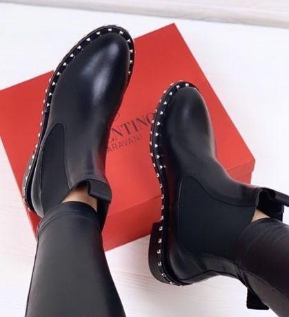 Ботинки челси Valentino Валентино черные
