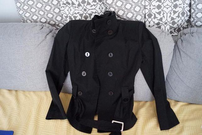 Płaszcz krótki czarny żakiet kurtka rozmiar L Nowy