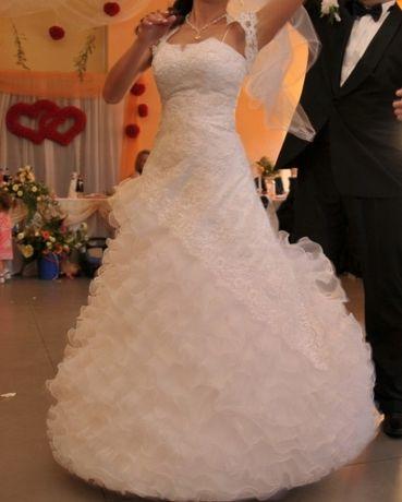 Śliczna suknia ślubna CARMEN BIAŁA !!! Rozmiar 36