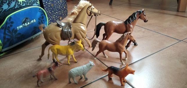 Zwierzątka, konie, pies, koza, owca