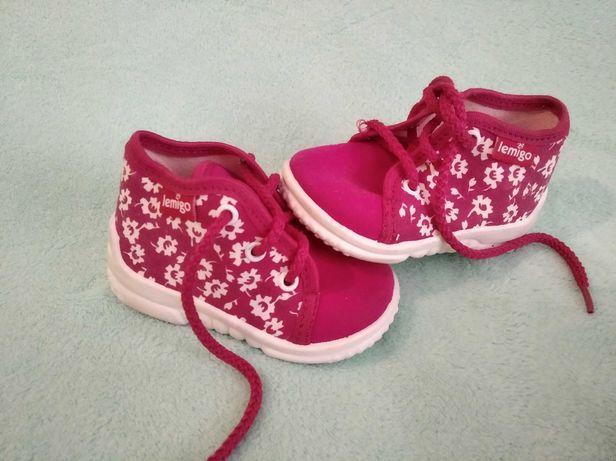 Buty buciki dziewczęce rozmiar 19 różowe półbuty