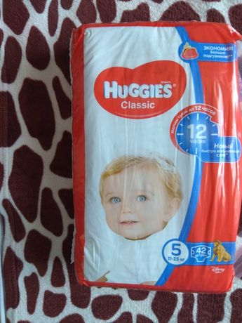 Продаю памперсы Huggies Classic 5