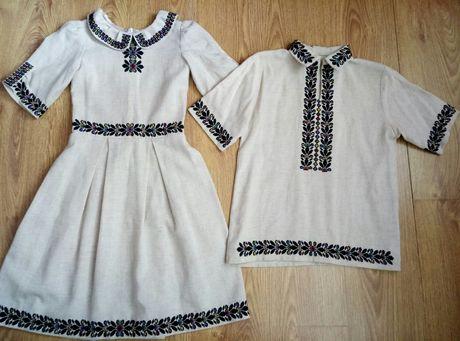 вишиванки борщівські плаття 128-134-140см сорочка 152-158см