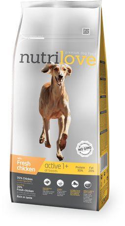 Nutrilove Dog 11483 Active 12Kg Kurczak