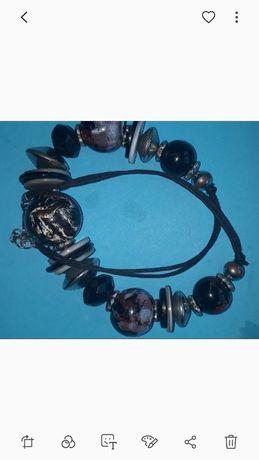 Naszyjnik,korale eleganckie ciemne