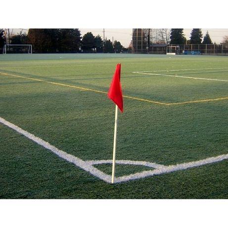 Bandeirola campo flexível 160 cm x Ø 30mm, com negativo, bandeira fluo