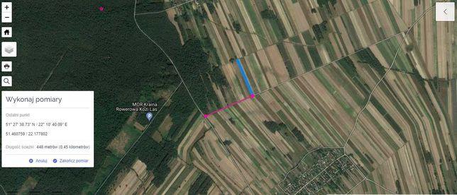 Działka 0,45 ha /Choszczów/gm Kurów