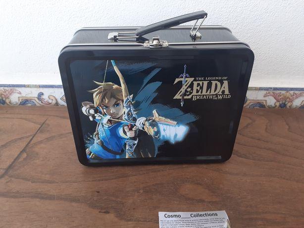 Lancheira em metal do personagem Link do Legend of Zelda.