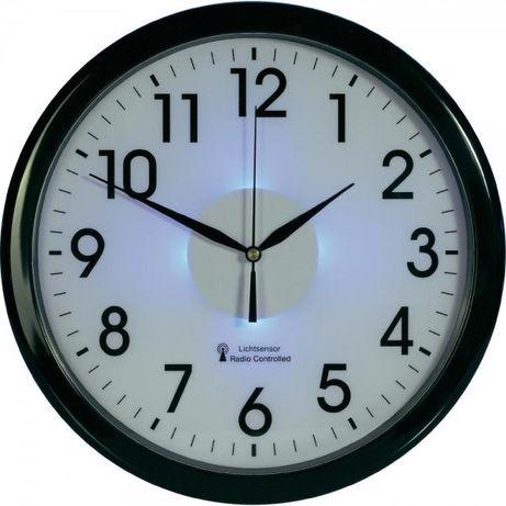 Zegar ścienny radiowy DCF z podświetleniem nocnym LED