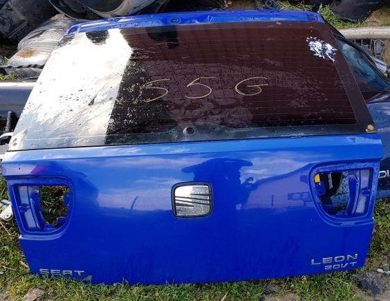 Tylna klapa Bagażnika Seat Leon niebieska LS5G