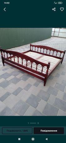 Ліжко дерев'яне на ламелях без матраса