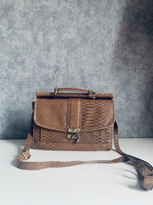 Brązowa torebka skóra węża vintage Tczew - image 1