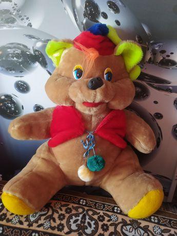 Мягкие игрушки медведь и тигр
