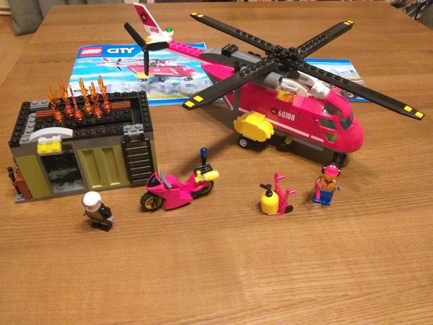 Lego City 60108 helikopter strażacki motocykl kontener