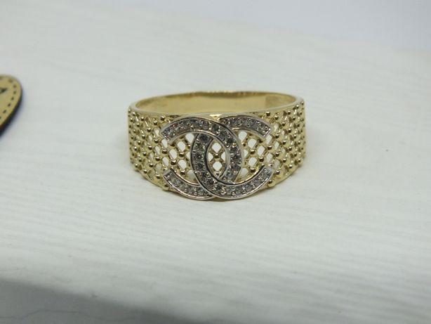 **Nowy złoty pierścionek 3,29g p.585-Lombard Stówka**