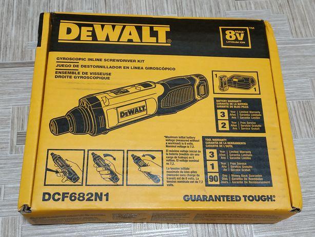Гироскопическая аккумуляторная отвёртка Dewalt DCF682N1