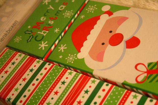 Komplet PUDEŁEK prezentowych świątecznych ZIELONY
