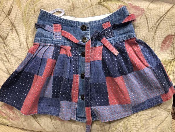 Юбка джинсовая на пуговицах х/б A-Yugi 7/8 лет 128 см 160 грн