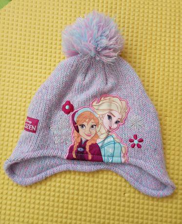 52 cm 3-6 lat czapka zimowa Frozen Disney Kraina Lodu Anna Elza
