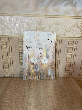 Картина для интерьера,размер 30*20 см.Масло,объёмная паста.