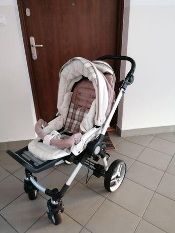 Wózek Teutonia be you 5w1, spacerówka, stelaż, gondola, fotelik z bazą