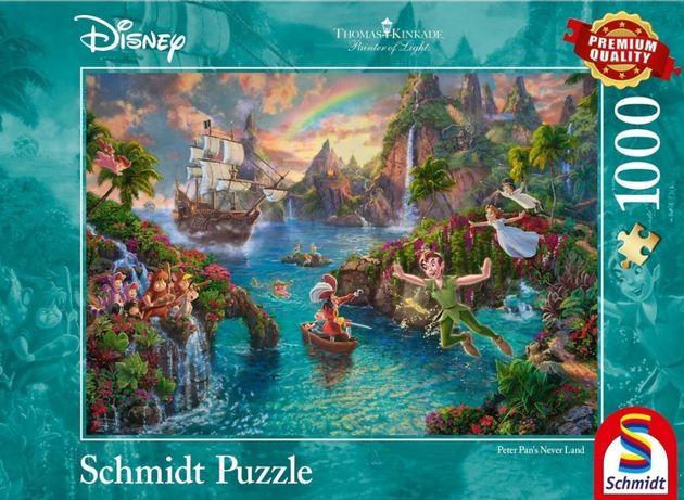 Puzzle 1000 Disney/ Schmidt/ Thomas Kinkade/ Piotruś Pan